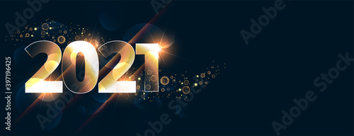 Glowing new year 2021 celebration background