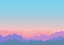 美しい朝焼けの空のイラスト