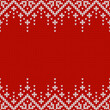 Knitwear texture. Template with empty place for text. Traditional seasonal seamless background for holiday design. Winter knitted wool sweater pattern with snowflakes. Christmas vector illustration.
