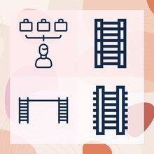 Simple Set Of Spoke Related Lineal Icons