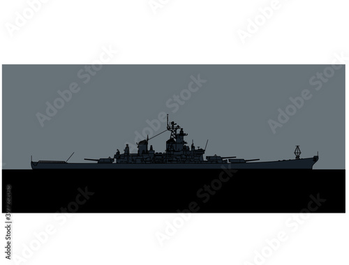 Canvas Print US Navy Iowa-class Battleship