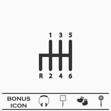 Transmission Icon Flat
