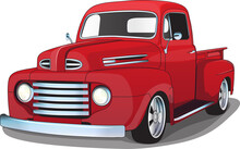 1940's Red Classic Pickup Truck