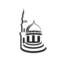 Islamic Center Building Moslem Center Mosque Logo Design Graphic Concept Vector