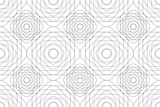 Fototapeta Kwiaty - Seamless, abstract background pattern made with repeated rhomboidal shapes in flower abstraction. Modern vector art.