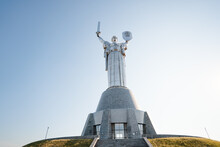 The Monument Of Motherland In Kyiv. The Ukrainian National Museum Of The 2nd Great War.