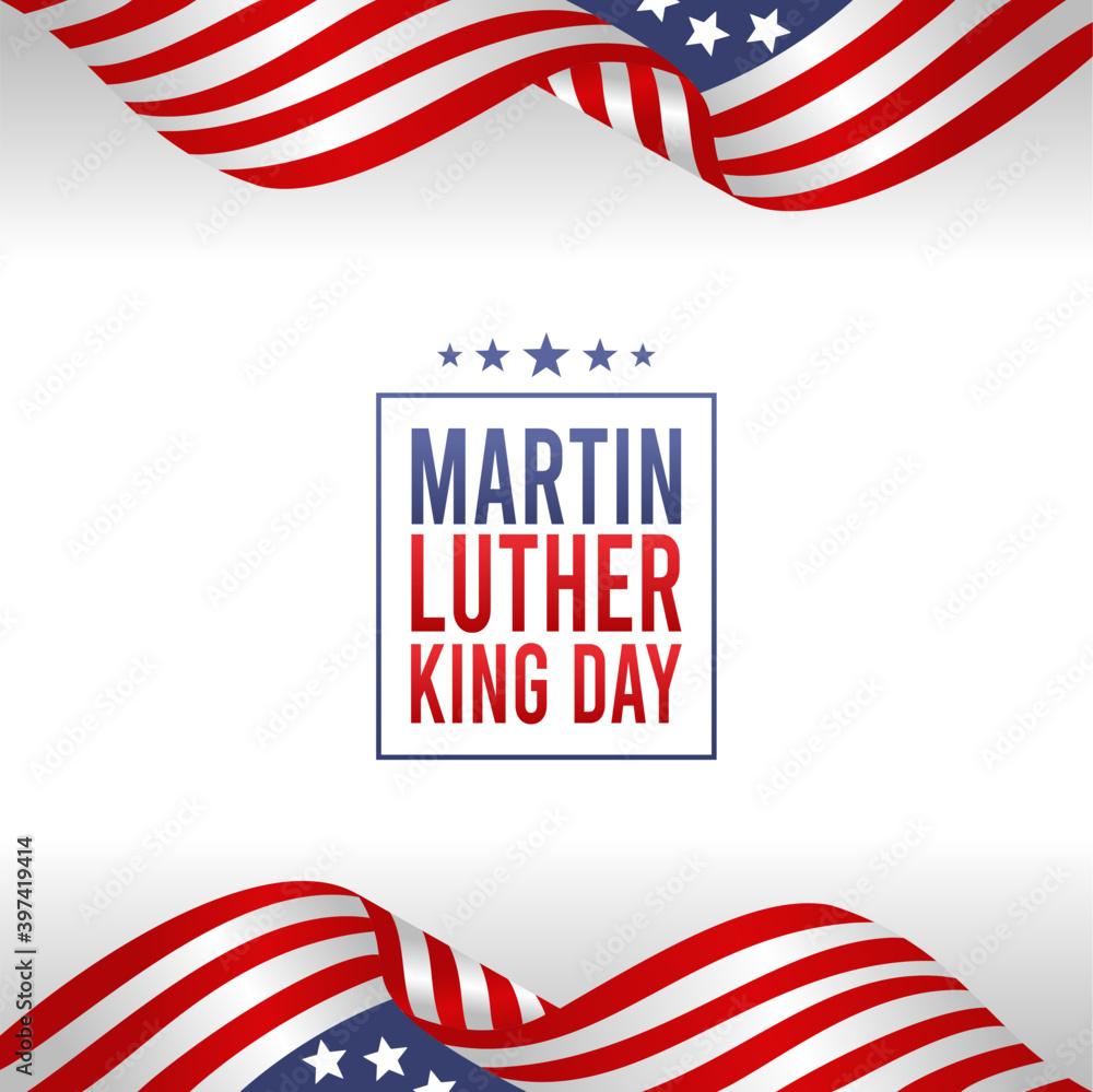 Fototapeta vector graphic of Martin luther king day good for Martin luther king day celebration. flat design. flyer design.flat illustration.