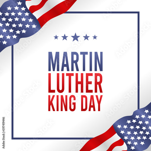 Vászonkép vector graphic of Martin luther king day good for Martin luther king day celebration