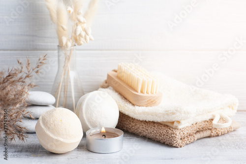Spa composition with bath bombs Fototapeta