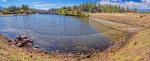 Crumbling Dam Of McLellan Reservoir Near Williams AZ