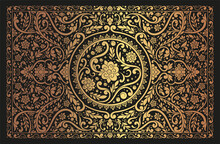 Black And Gold Luxury Leaves Background. Vector Ornament Pattern. Paisley Elements. Great For Fabric, Invitation, Wallpaper, Decoration, Packaging Or Any Desired Idea.