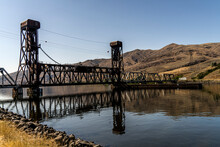 18TH ST BRIDGE IS LEWISTON IDAHO'S FIRST BRIDGE OVER THE CLEARWATER RIVER AND WAS REBUILT IN 1951