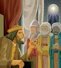 Christmas   Biblical Magi And Herod