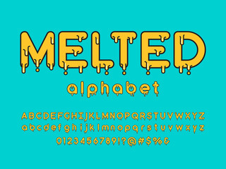 Vector of stylized melted alphabet design