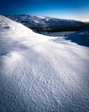 Clean Snow Field In Langstrothdale