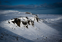 Cliff And Snow, Yorkshire Dales