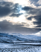 Snow On Hills, Yorkshire Dales