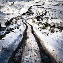 Snowy Farm Track In Langstrothdale