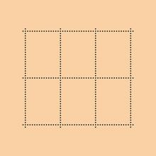 Vintage Empty Postage Stamp. Simple Vector Illustration