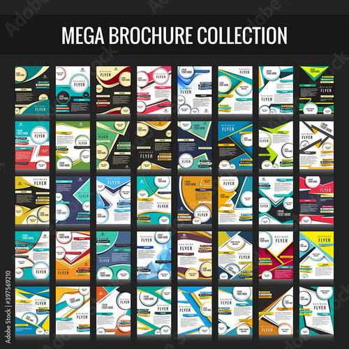 Canvas Print mega business brochure collection