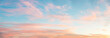 light soft panorama sunset background, blue sky and pink clouds