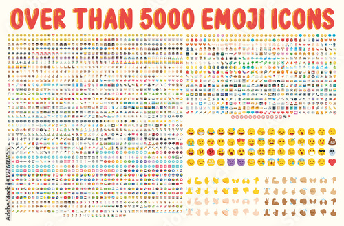 фотография All type of emojis in one big set