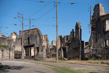 Ruin Of The Village Of Oradour Sur Glane In France, Remnant Of A Former War Massacre