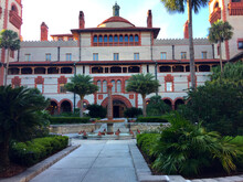 Courtyard At Flagler College In St. Augustine Florida