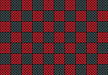 Vector Background - Geometric Celtic Red And Gray Pattern On A Black Background