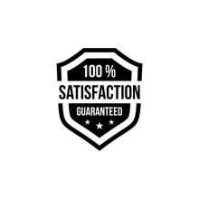 100 % Satisfaction Guaranteed Shield Vector