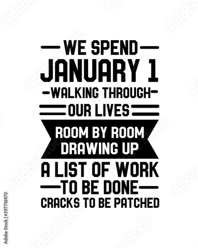 Fotomural We spend January 1 walking through our lives room by room drawing up a list of work to be done cracks to be patched