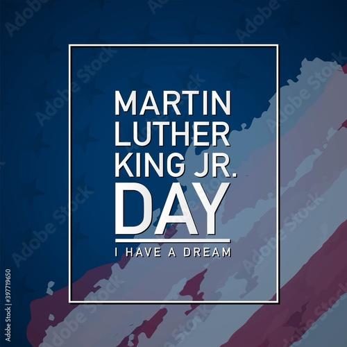 Fotografía Martin Luther King Jr. Day Background. Vector Illustration.