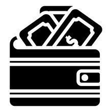 Wallet Icon In Solid Style For Any Projects