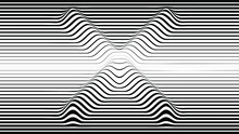 Abstract Flow Lines Background . Fluid Wavy Shape .Striped Linear Pattern . Music Sound Wave . Vector Illustration. Letter X . Cross Sign .