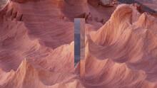 Monolith Mystery In Desert, 3d Rendered