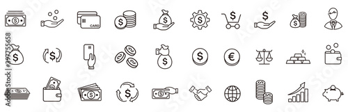 line icon of Vector business and finance Fototapeta