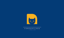 N CAT Letter Wolf Logo Vector Icon