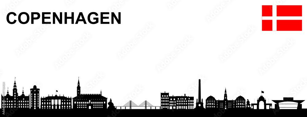 Fototapeta Kopenhagen Panorama
