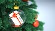 Leinwandbild Motiv Christmas Tree Bauble Coupon