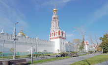 Walls Of Novodevichy Convent In The Center Of Moscow, Russia
