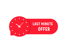 Red Last Minute Offer Sticker