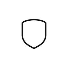 Shield Flat Icon Vector Illustration