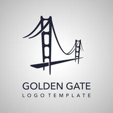 Golden Gate Logo - Abstract Silhouette Of Bridge