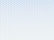 六角形の模様が並ぶ白色の抽象背景イラスト