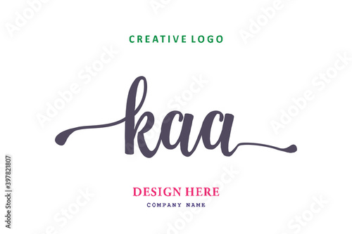 Canvas Print KAA lettering logo is simple, easy to understand and authoritative