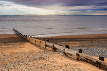 Rossall Beach And Watch Tower At Fleetwood, Lancashire
