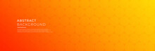 Abstract Modern Orange Yellow White Banner Background Gradient Color. Yellow And Orange Gradient With Circle Halftone Pattern Curve Wave Decoration.