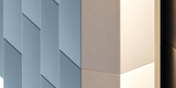 modern futuristic design abstract surface geometric architecture detail 3d render illustration