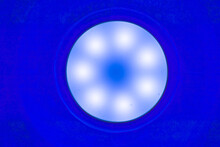 Led Lamp With Blue Glow.