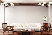 Traditional Home Interior Background, 3d Render